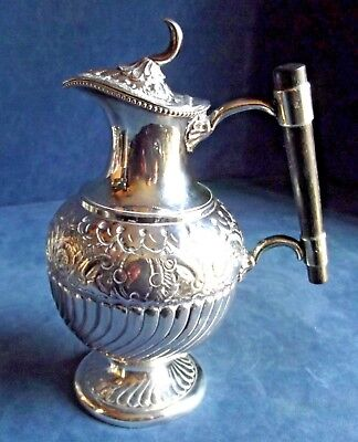 SUPERB Ornate ~ SILVER Plated ~ BULBOUS Water / WINE JUG ~ c1890 by Mark Wallis