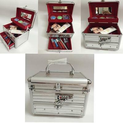 Professional Edition Aluminum Makeup Train Case Jewelry Box Cosmetic Case