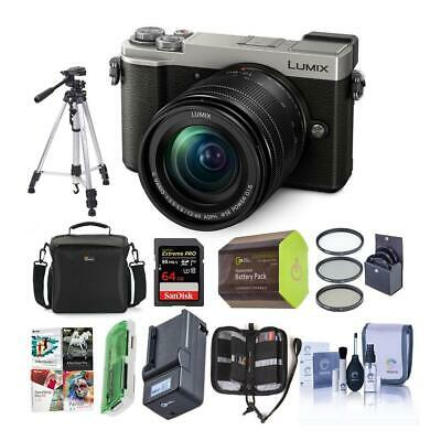 Panasonic Lumix DC-GX9 20.3MP Mirrorless Camera Slver W/12-60mm Lens/Premium Kit