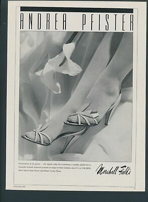 Print Ad~Vintage~1985~Andrea Pfister~Calla Lily Sandal Shoes~Marshall Field~F200