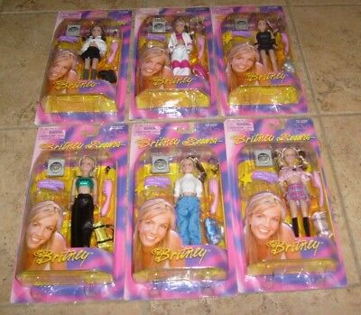 """Britney Spears 6"""" Scale Figure Doll Lot NEW MIB MOSC One More Time Era"""