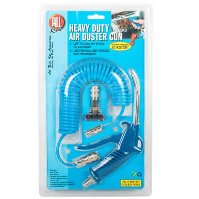 All Ride Heavy Duty Air Duster Blow Gun Truck Lorry Van Coiled Hose Compressor