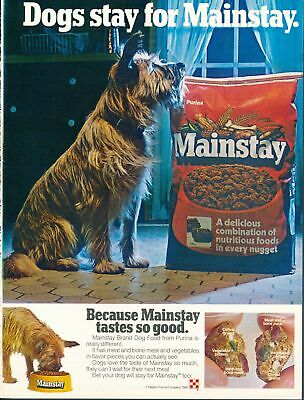 Print Ad~1980~Purina Mainstay Dog Food~Terrier~F400