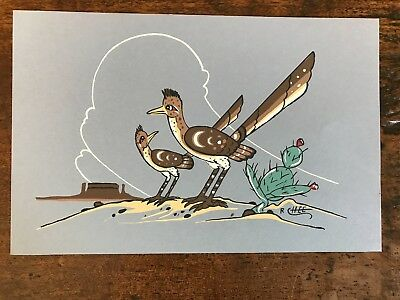 "Robert Chee "" ROAD RUNNERS ""  SILKSCREEN  10"" X 6.5"""