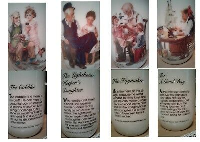 4  8oz. Norman Rockwell Coffee Mugs/Cups