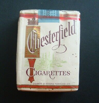 Paquet 20 Cigarettes Chesterfield Tobacco Tabacs Ancien Pack Old Made Usa Us Fr