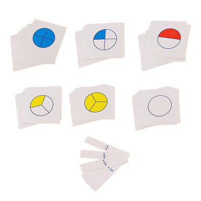 Fraction Expert Cards Maths Teaching Resource Kids Childrens Learning Game