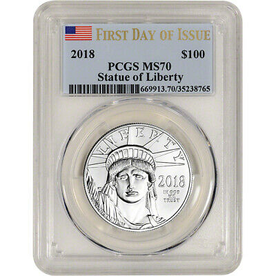 2018 American Platinum Eagle 1 oz $100 - PCGS MS70 - First Day of Issue