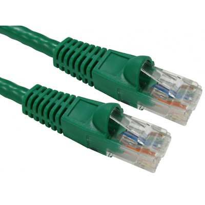 1m RJ45 Cat6 Network Cable Gigabit Ethernet Snagless Lead PREMIUM 24AWG GREEN