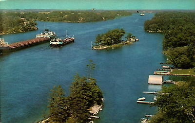 Postcard View St. Lawrence River Thousand Islands New York Chrome Unused