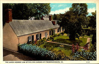 Postcard James Monroe Law Office and Garden Fredericksburg VA Unused