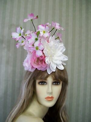 34e2b8951b2 PiNk AND White Flower Fascinator