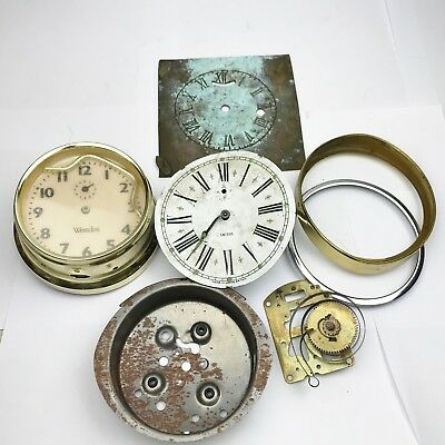 Vintage Clock Parks Bits Job Lot Collection