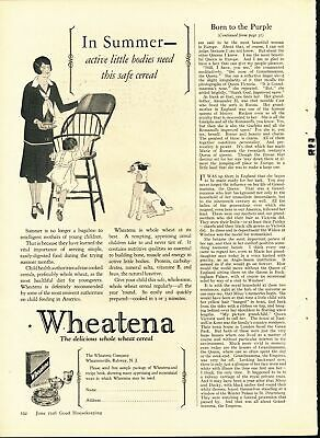 Print Ad~Vintage~1926~Wheatena Whole Wheat Cereal~F600