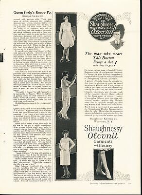 Print Ad~Vintage~1926~Shaughnessy Olovnit Garments and Hosiery~F600