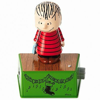 Peanuts Linus Christmas Dance Party Figurine With Music and Motion
