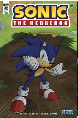 Sonic The Hedgehog #5 cover A Sega IDW Comic 1st Print 2018 unread NM