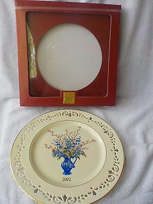 Lenox China New DELAWARE 2002 8th Annual Colonial Bouquet Collector Plate Pierce