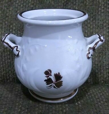 Anthony Shaw Lily Of The Valley Copper Lustre Tea Leaf Ironstone Sugar Bowl