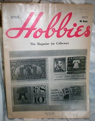 Hobbies: The Magazine for Collectors, April 1971, vintage w/ great advertising