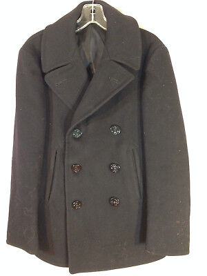fantastic NAVAL CLOTHING FACTORY authentic vintage classic wool pea coat S