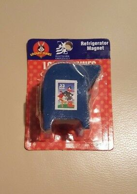 Rare 1999 Loony Tunes Stamp Collection Dispenser Refrigerator Magnet Daffy Duck!
