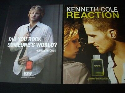 KENNETH COLE men's cologne magazine ads lot *