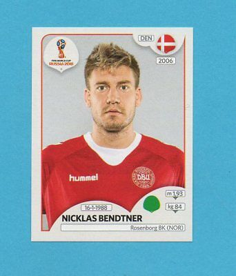Nicklas Bendtner Sticker 268 Panini WM 2018 World Cup Russia Dänemark