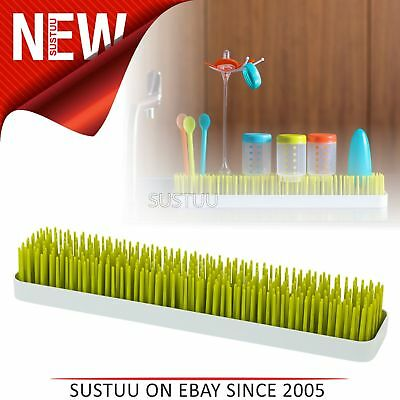 Boon Long Patch Slimline Grass Green Countertop Drying Rack│Kitchen Accessory