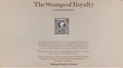 The Stamps of Royalty Silver Proof .925 Stamp Replica :  2 1/2 D NO6