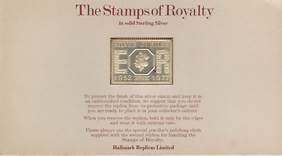 The Stamps of Royalty Silver Proof .925 Stamp Replica :  1977 13p NO24