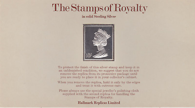 The Stamps of Royalty Silver Proof .925 Stamp Replica :  10 Bob £1  NO7