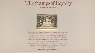 The Stamps of Royalty Silver Proof .925 Stamp Replica :  1s / 3d  NO25