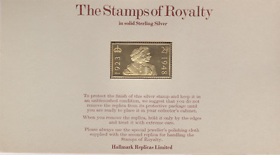 The Stamps of Royalty Silver Proof .925 Stamp Replica :  2 1/2 D NO21