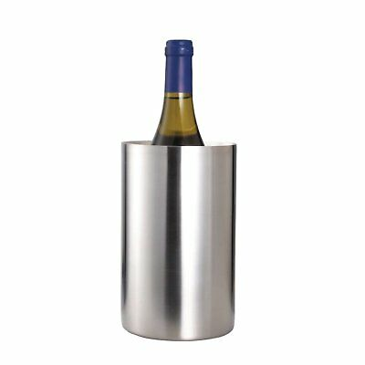 Double Walled Wine Cooler Stainless Steel Bottle Holder Chiller Bar Party Bucket