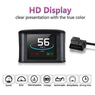 Car OBD2 HUD Head Up Display RPM KM/h Water Temperature Speed Fuel Voltage P10