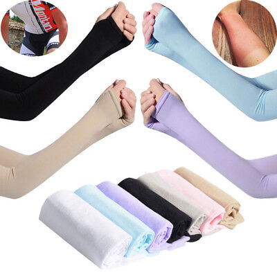 Outdoor Sports Cycling Unisex 1 Pair Cooling Arm Sleeves Cover UV Sun Protection
