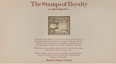The Stamps of Royalty Silver Proof .925 Stamp Replica : 5s Shillings  NO 18