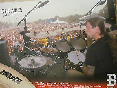 Lamb of God, Chris Adler, Meinl Cymbals, Full Page Promotional Ad