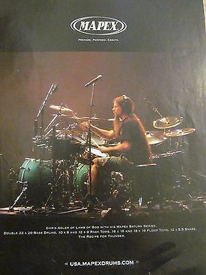 Lamb of God, Chris Adler, Mapex Drums, Full Page Promotional Ad