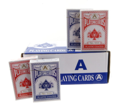 Bulk Professional Plastic Coated Playing Cards in 12 24 48 96 & 240