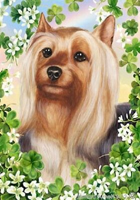 Large Indoor/Outdoor Clover Flag - Silky Terrier 31102