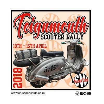 Teignmouth 2018 Scooter Rally Run  Patch Bsra Mods Skinheads Scooterist