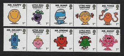 Gb 2016 Mr. Men Little Miss Stamp Set