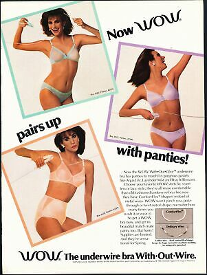 Print Ad~Vintage~1980s~WOW Pastel Bra and Panties~No Wire~G100