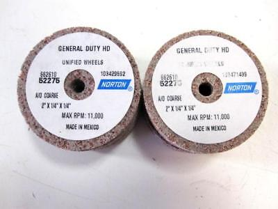 "Lot Of 10 Norton 66261052275 A/O 2"" Dia. Unitized Deburring Wheels NEW"