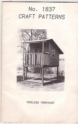 """Project For  Handy Dads :  Pattern For """"treeless Treehouse"""""""