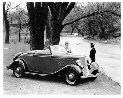 1933 Ford V8 Convertible Coupe ORIGINAL Photo Negative nad3733