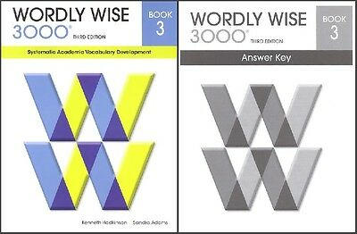 wordly wise 3000 set book 4 student book and answer key 3rd