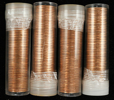 1976 P Lincoln Memorial Cent 1C Gem Bu Red Unsearched 4 Rolls 200 Coins (2032)
